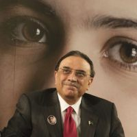 Taxing endeavor: Pakistan President Asif Ali Zardari smiles during a ceremony at UNESCO headquarters in Paris on Monday to honor 15-year-old schoolgirl Malala Yousufzai, who was shot in the head by a Taliban gunman, in his country's northwest Swat Valley in October. | AP