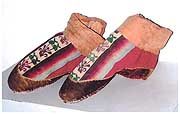 Wool tapestry boots (first-fifth century)