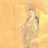 Kano Hogai's 'Avalokitesvara as a Merciful Mother' | COURTESY OF TOKYO NATIONAL UNIVERSITY OF FINE ARTS AND MUSIC