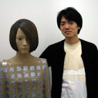 Suspended life: Artist Tomotaka Yasui with his new work 'Capsule' at Megumi Ogita Gallery in Ginza | C.B. LIDDELL PHOTO