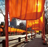 Open barriers: A view of Christo and Jeanne Claude's 'The Gates, Project for Central Park, New York City' (2005), which placed 7,503 'gates' in Central Park.