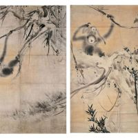 'Monkeys in Withered Trees' by Hasegawa Tohaku. | COURTESY OF KYOTO NATIONAL MUSEUM