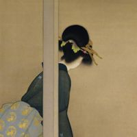 Far left: Shoen Uemura's 'Waiting for the Moon' (1926). | COURTESY OF THE KYOTO MUNICIPAL MUSEUM OF ART