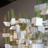 Tree houses: Sousuke Fujimoto's Styrofoam city of buildings and trees floating in the 'sky,' at the Watarium Museum of Contemporary Art.