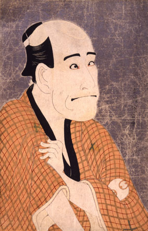 Payback: 'Actor Arashi Ryuzo II in the role of Ishibe Kinkichi the Money Lender,' Toshusai Sharaku (1794). | MIZUTA MUSEUM OF ART, JOSAI INTERNATIONAL UNIVERSITY