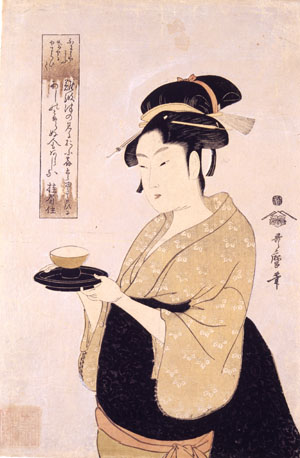 Lady of Pleasure: 'Naniwaya Okita' (circa 1793) Kitagawa Utamaro | KUBOSO MEMORIAL MUSEUM ARTS