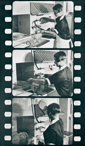 Brave new kitchen: Stills from the film 'How to use the Master's House' (1926). | BAUHAUS DESSAU FOUNDATION