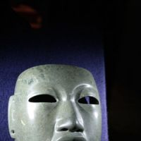Ancient stone mysteries: A jade mask (1500-1000 BC) carved using only stone tools shows the artistic sophistication of the ancient Olmec civilization. | C.B. LIDDELL PHOTO