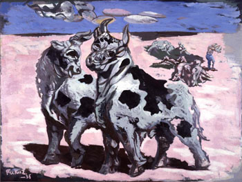 Leader of the gang: 'Oxen' (1936) by Ichiro Fukuzawa, who became a noted influence on Surrealism in Japan. | THE NATIONAL MUSEUM OF MODERN ART, TOKYO
