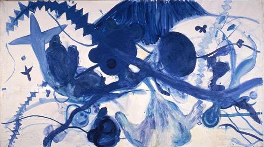 Figurativism or abstraction? 'Painting of Sea' (1987) by Kodai Nakahara. | THE NATIONAL MUSEUM OF ART, OSAKA