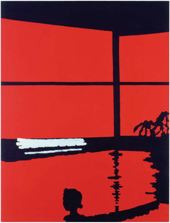 Simple pleasure: 'A Hot Spring Bath (Red)' by Nobuyuki Takahashi (2008) | BASE GALLERY, TOKYO