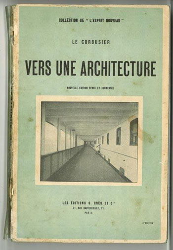 A 1924 edition of Le Corbusier's 'Vers Une Architecture' ('Toward an Architecture'), his manifesto for Modern architecture.