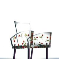 Rose-tinted chair: 'Miss Blanche (1988)' by Shiro Kuramata re-interprets modernist design with a little decorative flair. | HIROSHI IWASAKI