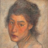 Unfinished aesthetic: 'Head of a Woman' (1904) by Shigeru Aoki. | PRIVATE COLLECTION