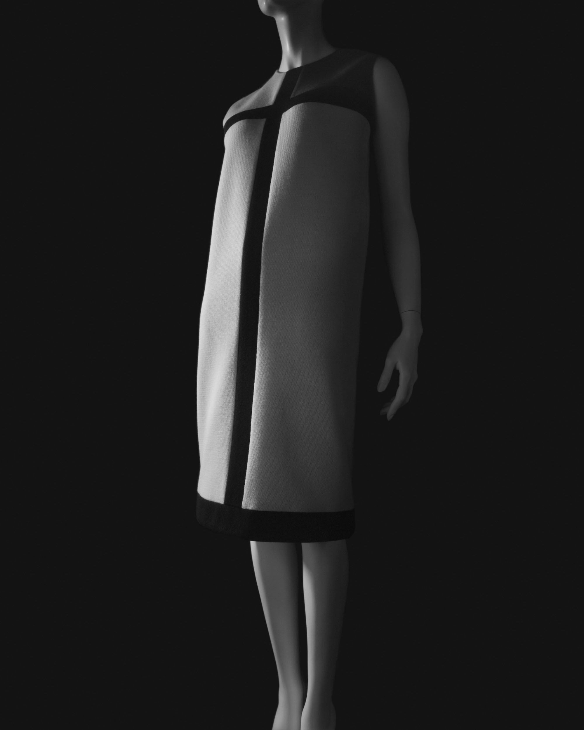 'Stylized Sculpture 008 (Yves Saint Laurent dress designed in 1965)' (2007) | DRESS: COLLECTION OF THEKYOTO COSTUME INSTITUTE; C HIROSHI SUGIMOTO/COURTESY OF GALLERY KOYANAGI