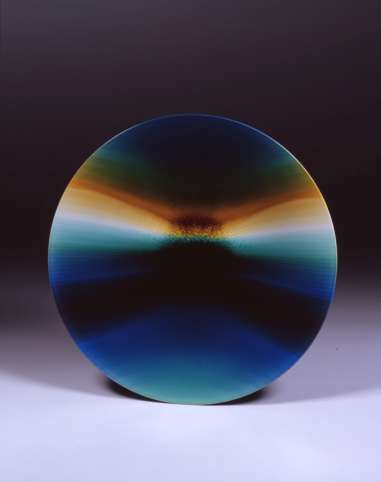 'Aurora' dish in brilliant glazes