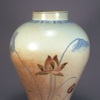 The jar Noritaka found at a tool shop in Keijo that drove him to search for ceramics of the Joseon dynasty (1392-1910). | THE MUSEUM OF ORIENTAL CERAMICS, OSAKA