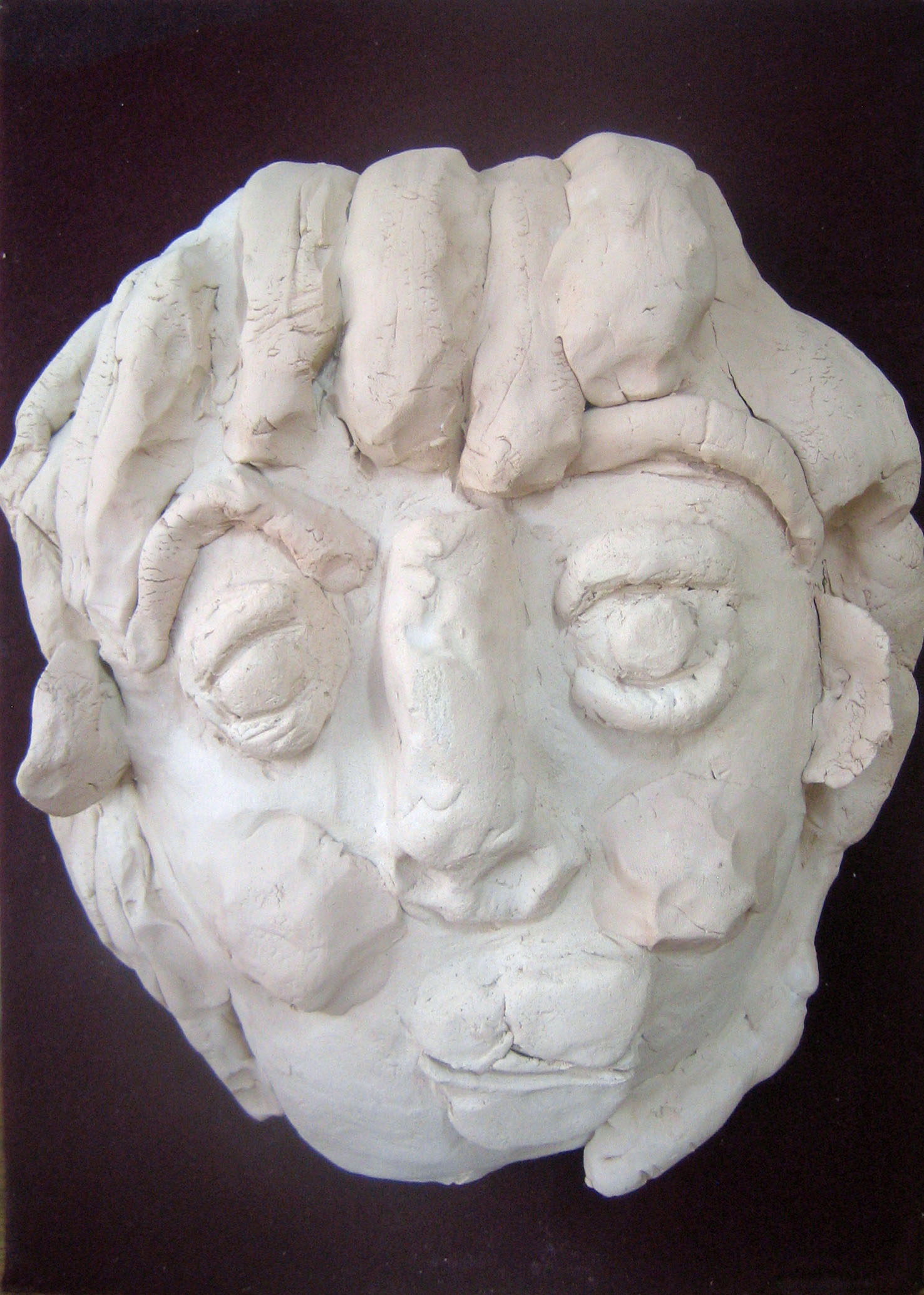 'My Future Self' (face mold, self-portrait) by Ayako Ichikawa, 2nd year junior high school GALLERY TOM