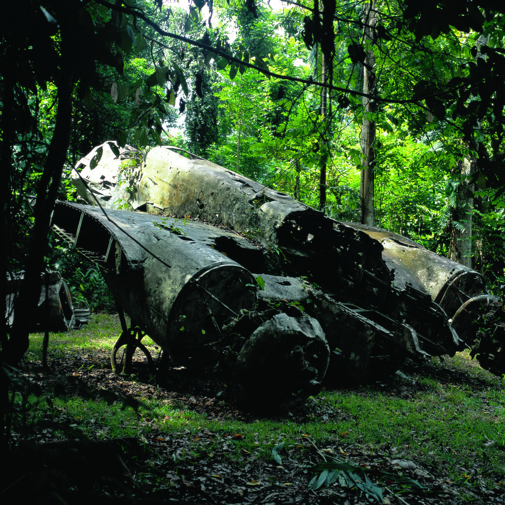'The Remains of a 'Donryu' Type 100 Heavy Bomber' (2009) by Tsuneo Enari  Courtesy Tokyo Metropolitan Museum of Photography