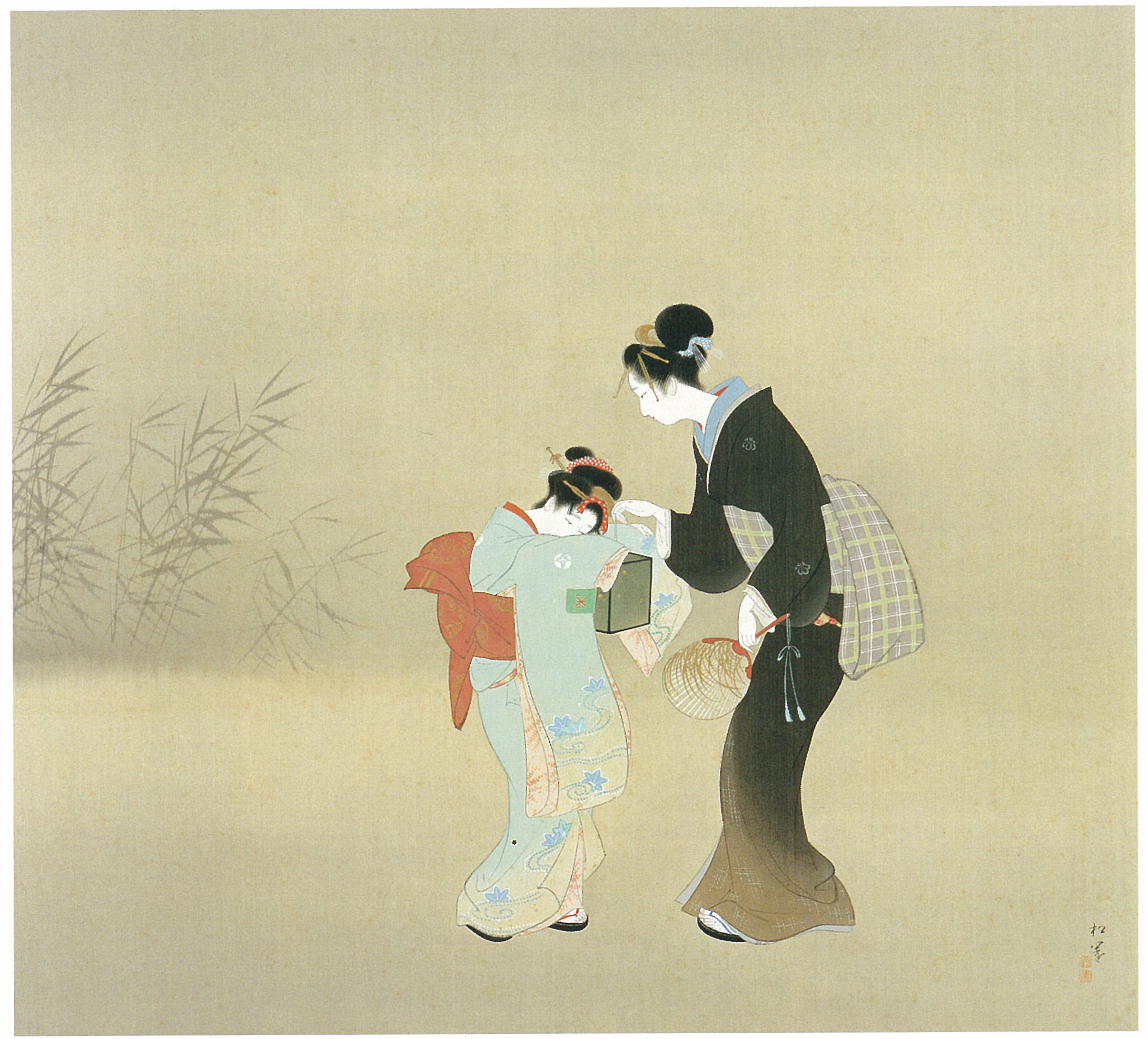 'Catching Fireflies' (1932) by Shoen Uemura | SHOHAKU ART MUSEUM