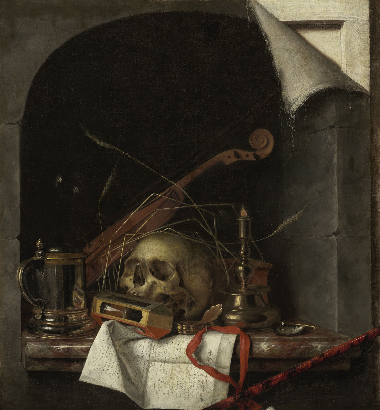 'Vanitas Still Life' by Cornelis Norbertus Gijsbrechts. | © 2011 MUSEUM OF FINE ARTS, BOSTON