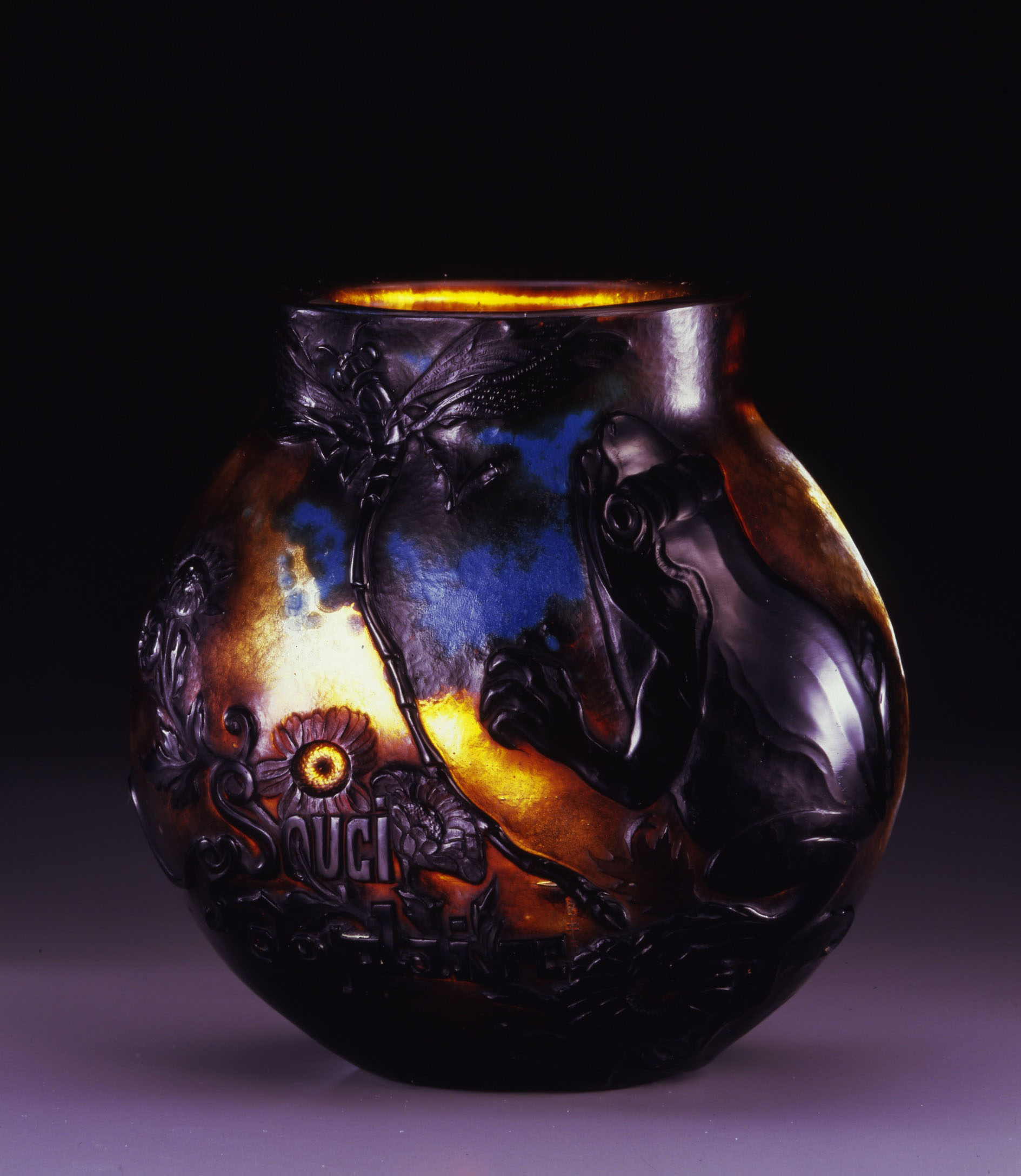 Vase, 'Souci de plaire' by Emile Galle, | KITAZAWA MUSEUM OF ART