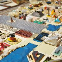 The high tide of Metabolism: A toylike model of the Osaka World Expo of 1970.