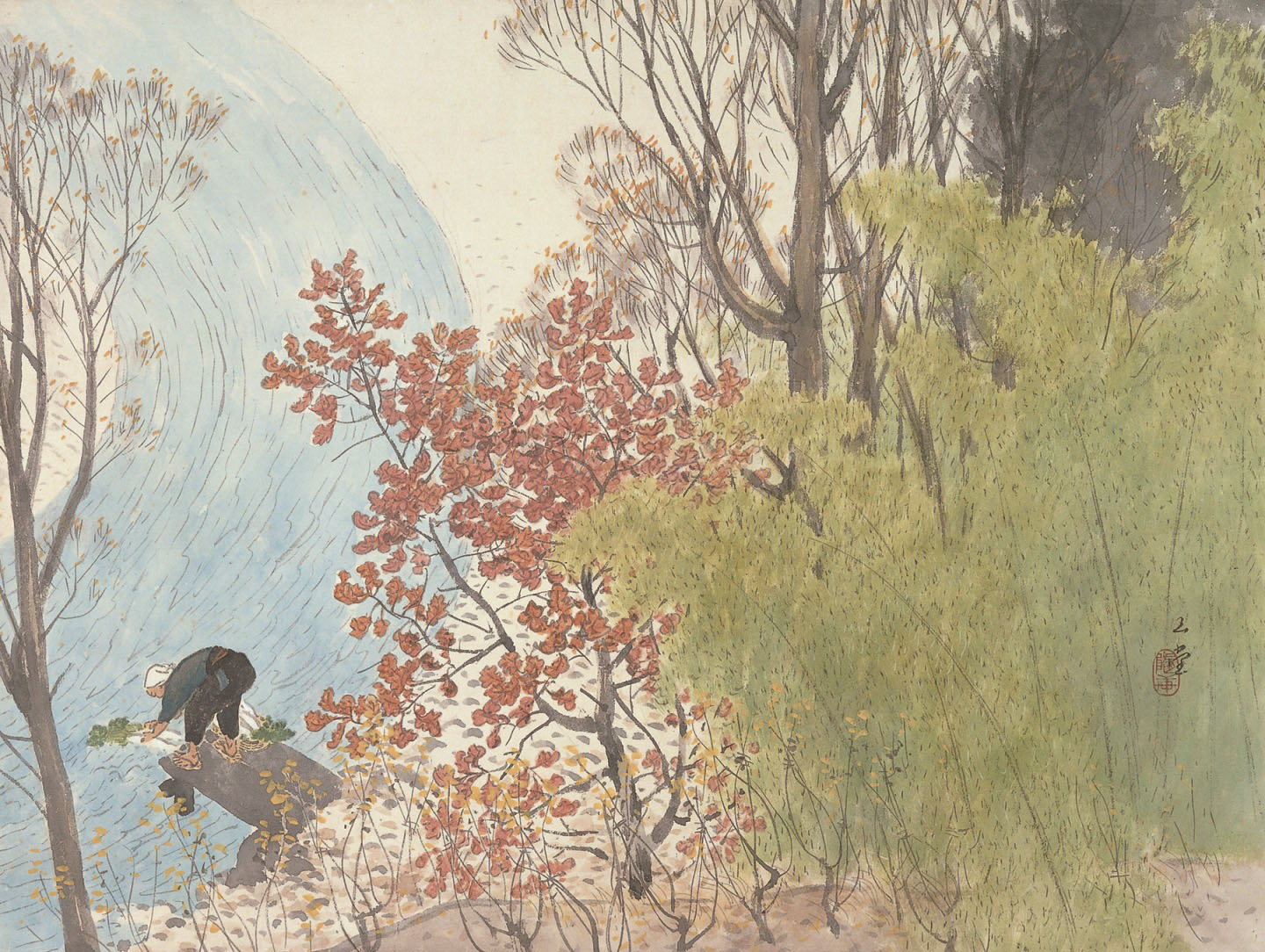 'Autumn Shine' (c. 1955) | {OTANI MEMORIAL ART MUSEUM, NISHINOMIYA CITY