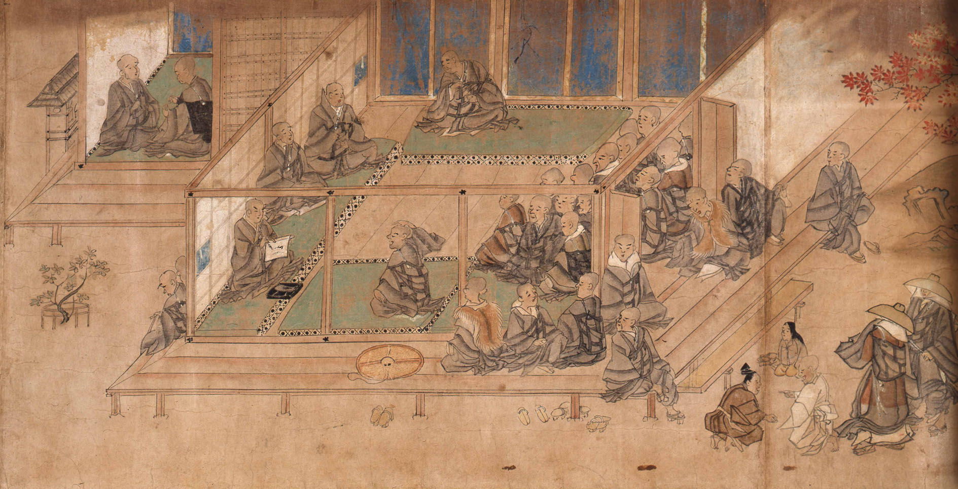 'Illustrated Biography of Shinran' (Zenshin Shonin, Rin'a version), an Important Cultural Property from the Kamakura Period,13th century. | NISHI HONGWANJI (HONGWANJI-HA), KYOTO
