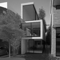 A digital rendering of Busch's design for the Takadanobaba residence.   FLORIAN BUSCH ARCHITECTS