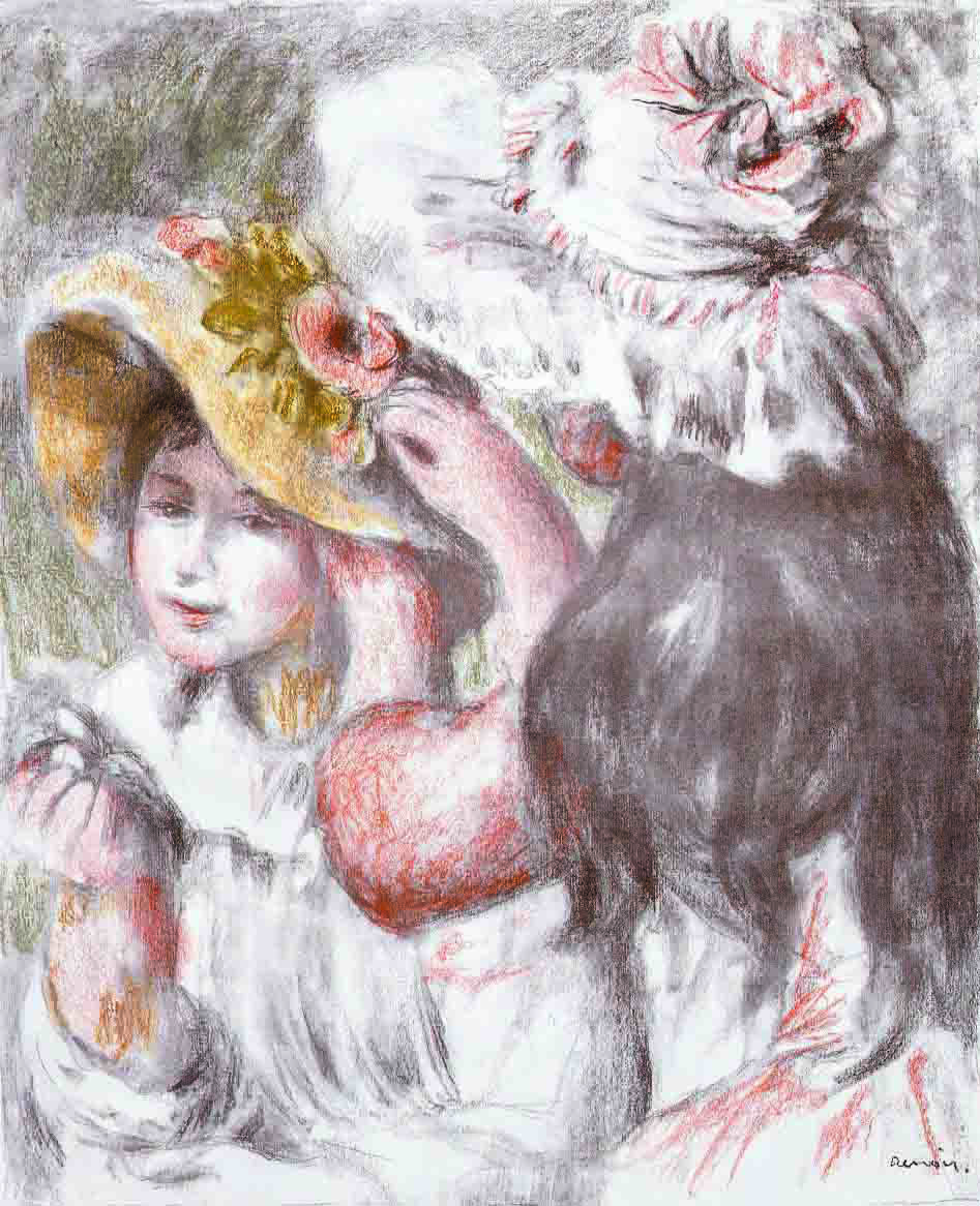 'Pin on a Hat'by Auguste Renoir