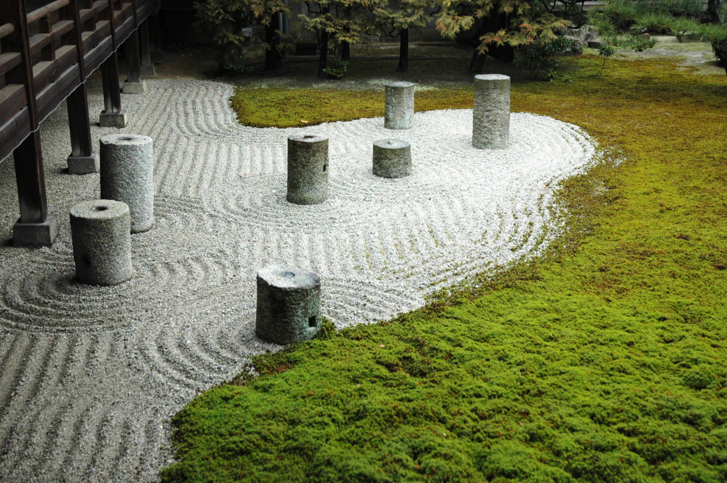 'The Garden of the Septentrions' in Tofukiji Temple's The Garden of the Hojo in Kyoto, landscaped by Mirei Shigemori (1939).
