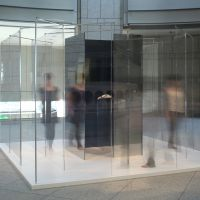 Looking for direction: Yoko Ono's glass 'Telephone in Maze' shows visitors where to go but not how to get there. | COURTESY OF YOKO ONO, PHOTO BY KIOKU KEIZO AND COURTESY OF THE ORGANIZING COMMITTEE FOR THE YOKOHAMA TRIENNALE
