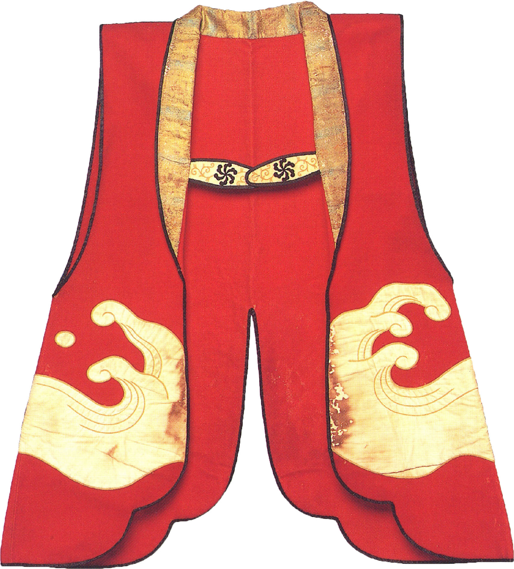 Red Material Tabard with Wave Patterns | UEDARYU-WAFUDOU