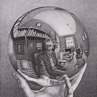 'Hand with Reflecting Sphere' by M.C. Escher. | ALL M.C. ESCHERWORKS (C) THE M.C. ESCHER HOLDINGS B.V. — BAARN — THE NETHERLANDS