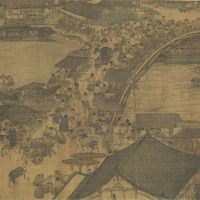 'Life along the Bian River at the Qingming Festival': A detail of Zhang Zeduan's silk handscroll masterpiece (Northern Song Dynasty, 12th century), which was on show through Jan. 24. | COLLECTION OF THE PALACE MUSEUM, BEIJING, CHINA