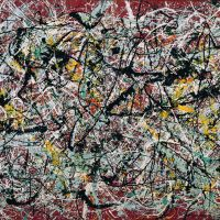 The great American artist: Jackson Pollock's 'Mural on Indian Red Ground'(1950, above) is being shown outside of Iran for the very first time. | TEHRAN MUSEUM OF CONTEMPORARY ART