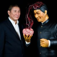 Takeshi Kitano during the exhibition 'Beat Takeshi Kitano, Gosse de peintre,' Fondation Cartier pour l'art contemporain, Paris, 2010. | © OFFICE KITANO INC. PHOTO BY OLIVIER OUADAH