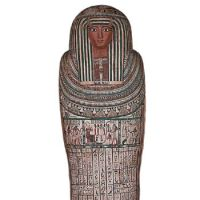 Final home: Wooden coffin of Pasenhor (730-680 B.C.).