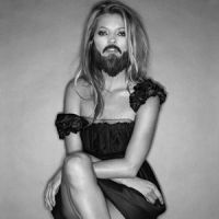 Beauty and the beard: 'VLM Kate — Groom' (2005) by Inez van Lamsweerde and Vinoodh Matadin | COURTESY OF GAGOSIAN GALLERY
