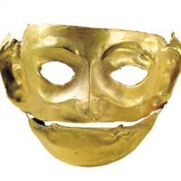 Gold mask (Yin-Western Zhou Dynasty, 12th-10th century B.C.). | JINSHA SITE MUSEUM, CHENGDU