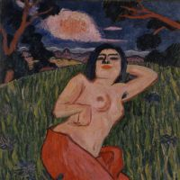 Yorozu Tetsugoro's 'Nude Beauty' (1912) | THE NATIONAL MUSEUM OF MODERN ART, TOKYO, IMPORTANT CULTURAL PROPERTY