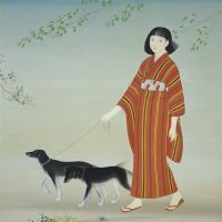 'Taking a Stroll' (1934) by Keigetsu Kikuchi | KYOTO MUNICIPAL MUSEUM OF ART