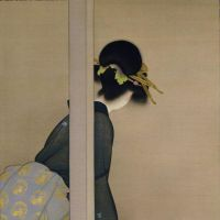'Waiting for the Moon' (1926) by Shoen Uemura | KYOTO MUNICIPAL MUSEUM OF ART