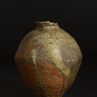 A Shigaraki ware jar (14th century)