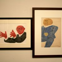 What lies behind Ben Shahn's lines of the times