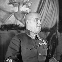 The victor: Marshal Georgy Zhukov led the Soviet troops that defeated the Imperial Japanese Army at Nomonhan