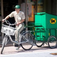 Express yourself: Yamato Transport seems to play up the sex appeal of its deliverymen, who are constantly in the public eye. | KYODO PHOTO