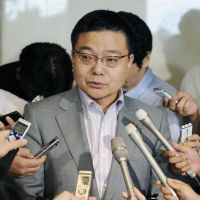 Making it up: Gov. Yasushi Furukawa was at the center of a scandal after being implicated in a perceived manipulation of public opinion on nuclear energy. | KYODO PHOTO