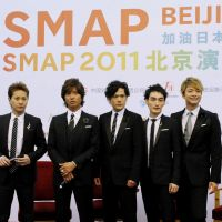 The professionals: After 20 years in show business, SMAP held its first overseas concert in Beijing on Sept. 16, 2011. | KYODO PHOTO